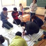 東小学校のStar-nation準備風景(2014)